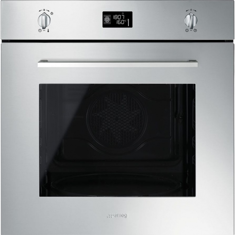 Cuptor incorporabil Smeg Selezione SF496XE, electric, multifunctional, 60cm, inox antiamprenta