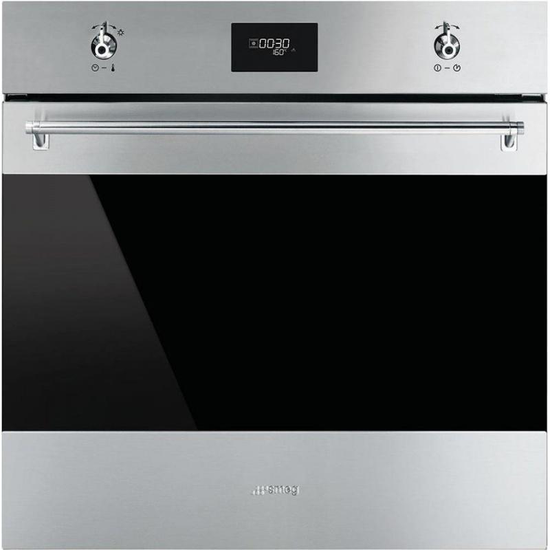 Cuptor incorporabil Smeg Classica SF6372X, electric, multifunctional, 60cm, inox antiamprenta